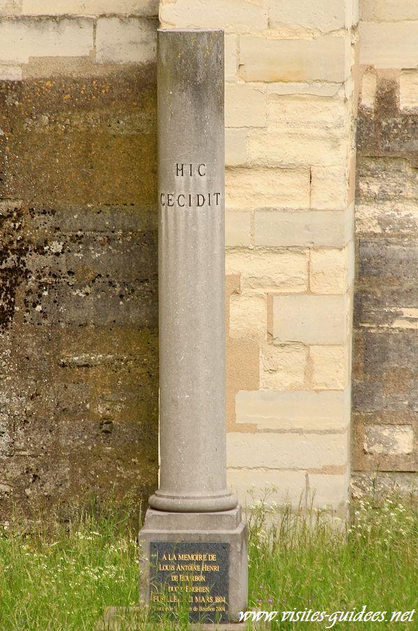 Stèle du duc d'Enghien Château de Vincennes