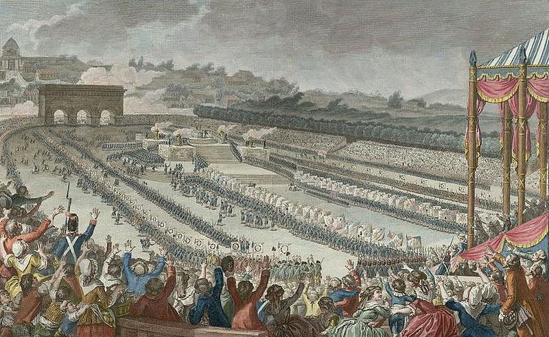 100 000 Parisiens au Champ-de-Mars pour la Fête de la Fédération le 14 juillet 1790