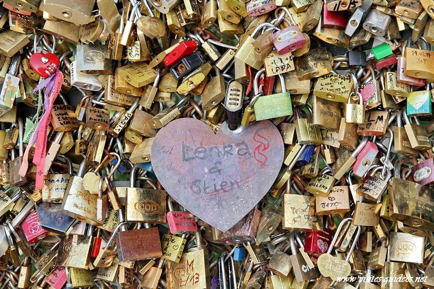 Les cadenas d'amour Pont des Arts