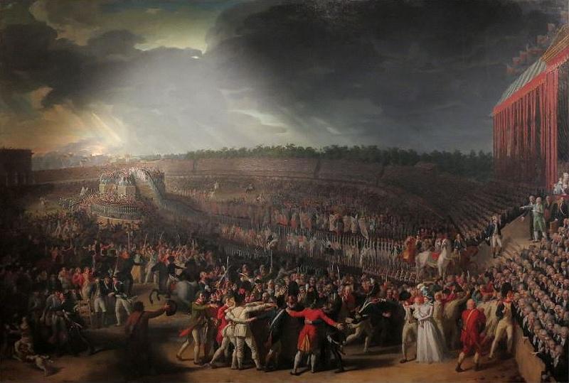 Charles Thévenin 1764 1838 La Fête de la Fédération le 14 juillet 1790 au Champ-de-Mars