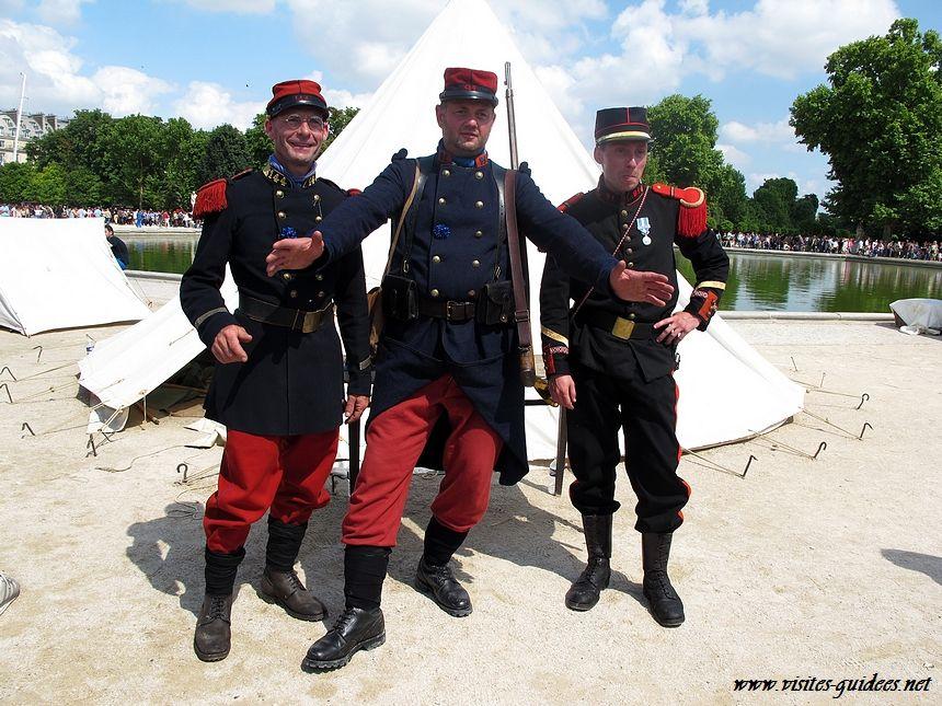 Bivouac de Poilus Tuileries Paris