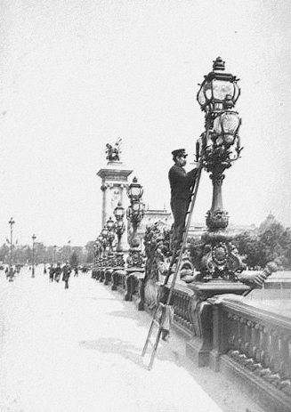allumeur de réverbère pont alexandre III