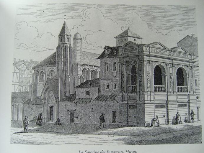 fontaine et église des Innocents