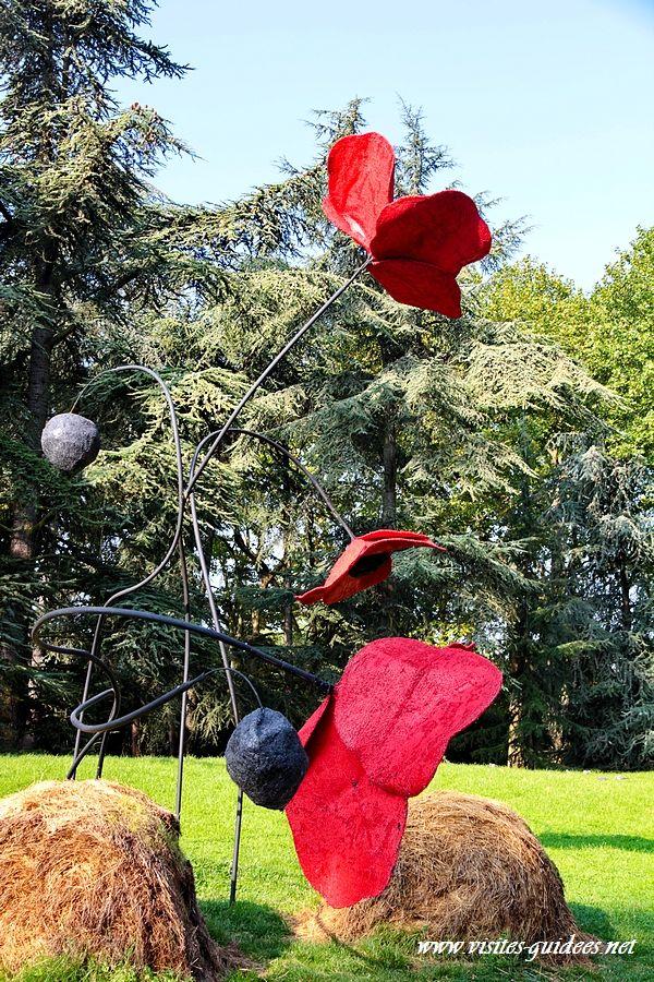 coquelicots géants Parc Floral de Paris