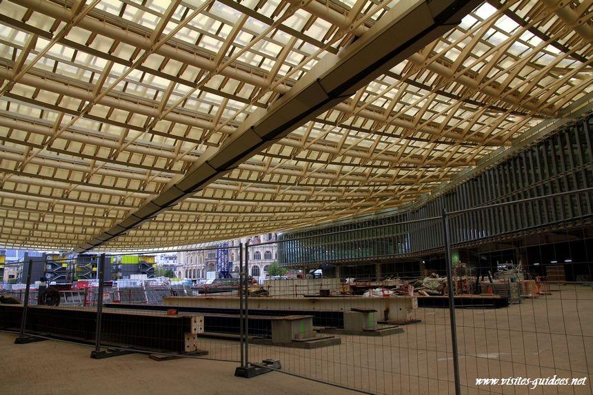 Journ es portes ouvertes chantier des halles d couverte de la canop e paris - Les halles paris ouverture ...