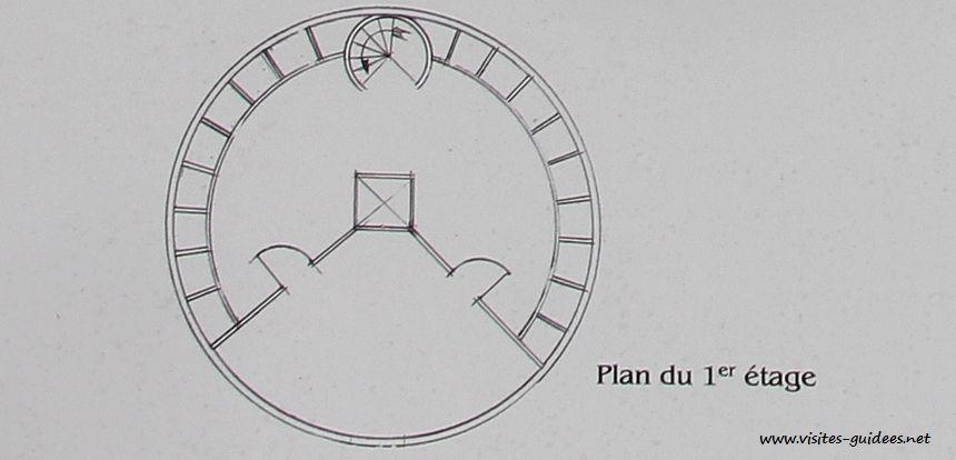 Le Pigeonnier plan 1er étage