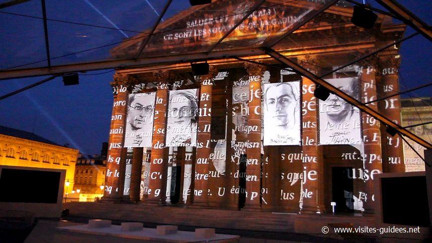 Son et lumière au Panthéon cérémonies d'entrée au Panthéon