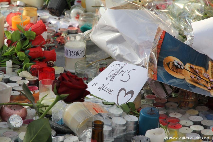 Recueillement Place de la République Paris