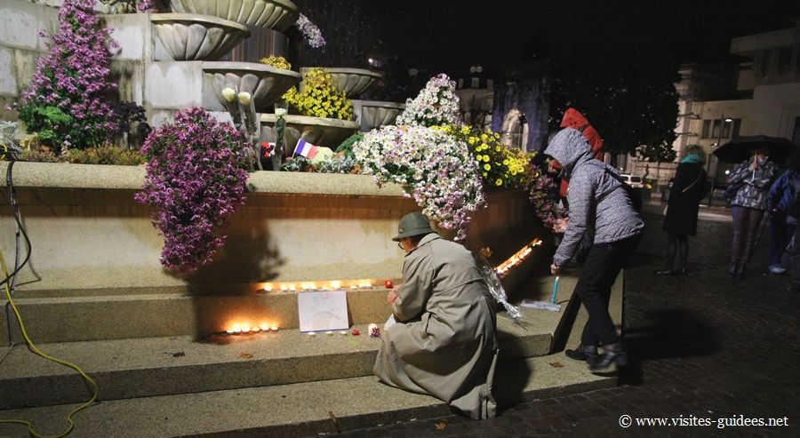 Hommage des Aixois aux victimes de Paris