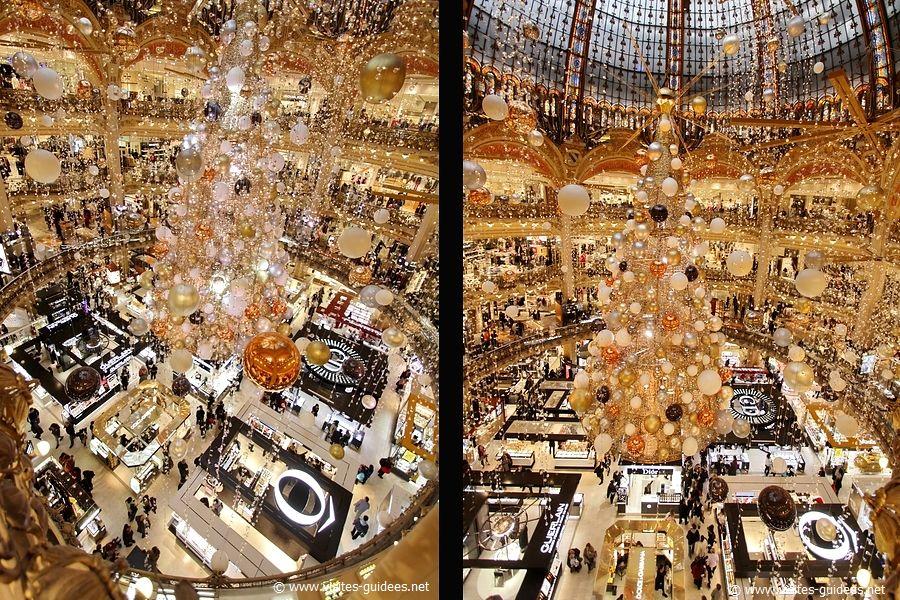 Un sapin cosmique Galeries Lafayette Haussmann
