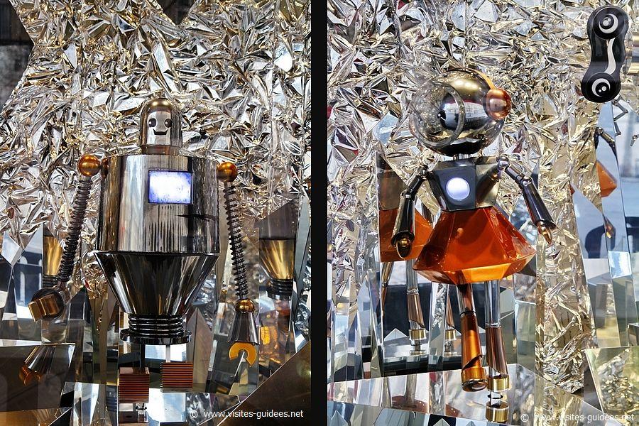 Vitrines des Galeries Lafayette Un Noël d'une autre planète