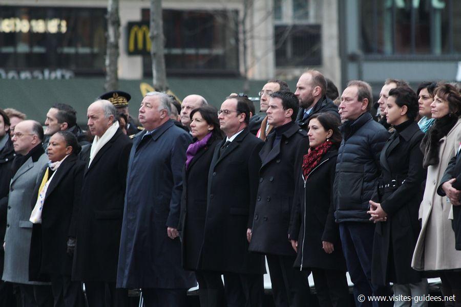 Hommage place de la République 10 janvier 2016