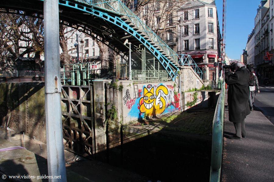 Chômage du Canal Saint-Martin Paris