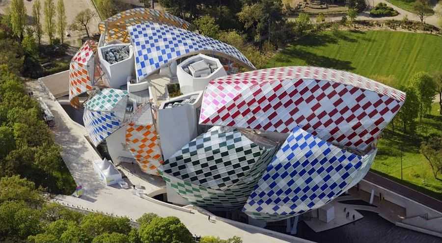 La fondationCrédit photo Iwan Baan Air Images Fondation Louis Vuitton