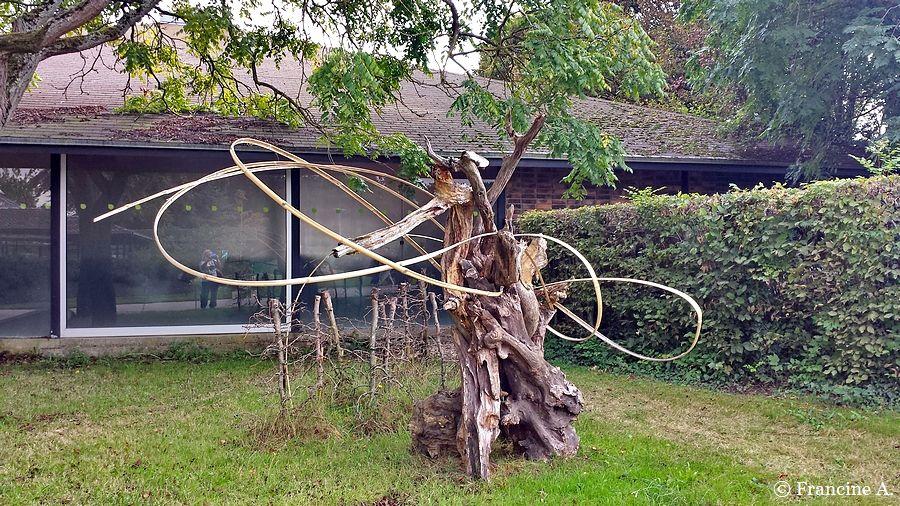 Ikébana sculptural Parc floral de Paris