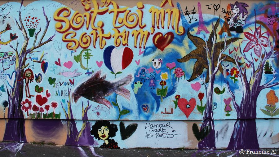 Mur d'amour rue Alibert Paris