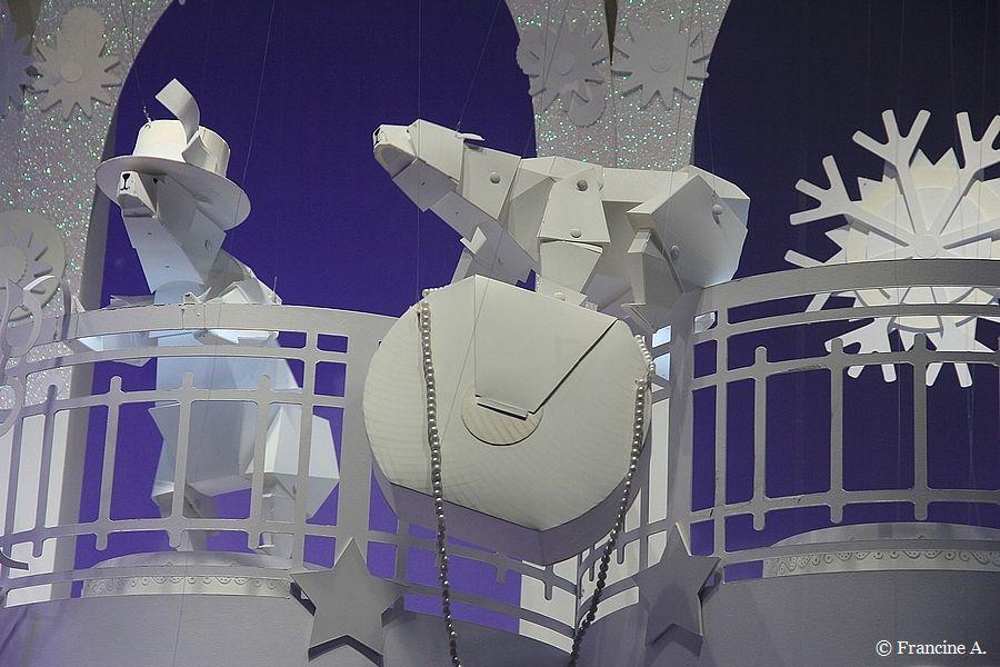 Vitrines extra polaires Galeries Lafayette