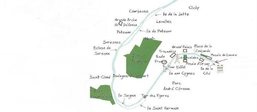 plan de la Seine