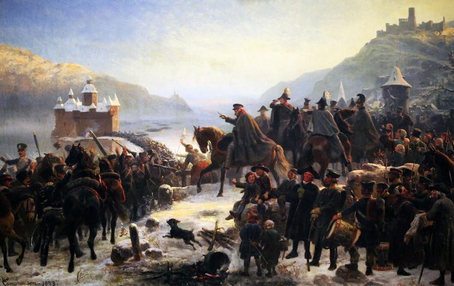 Wilhelm_Camphausen,_Blüchers_Rheinübergang_bei_Kaub B